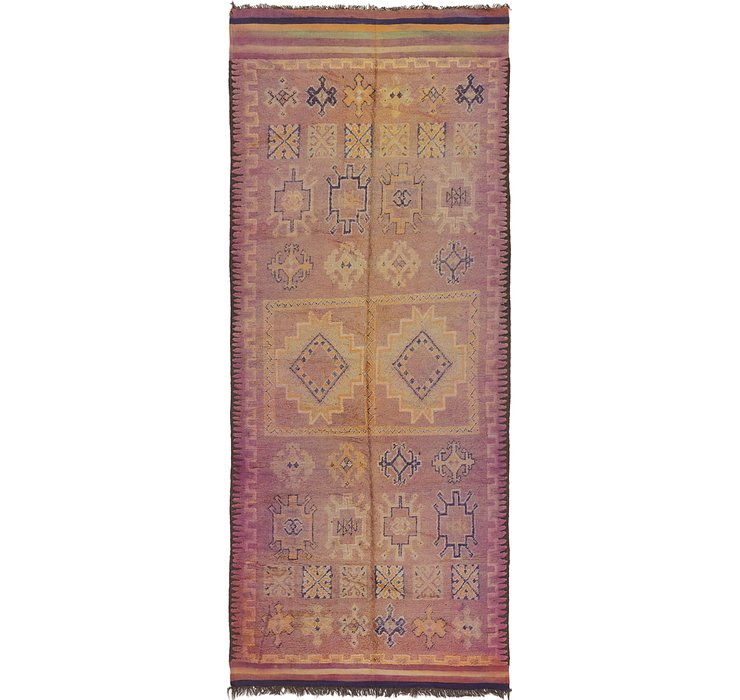 HandKnotted 6' 5 x 15' 4 Moroccan Runner Rug
