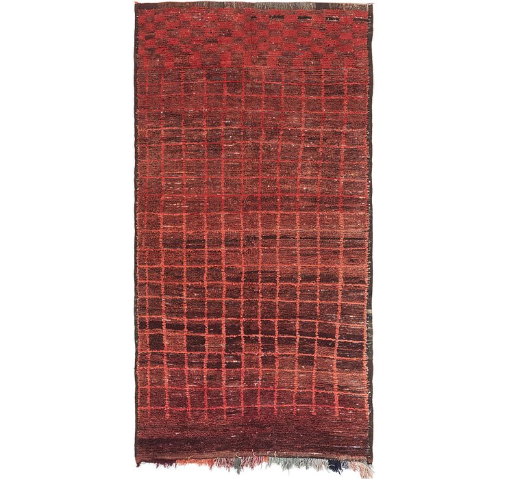 HandKnotted 5' 7 x 10' 6 Moroccan Runner Rug