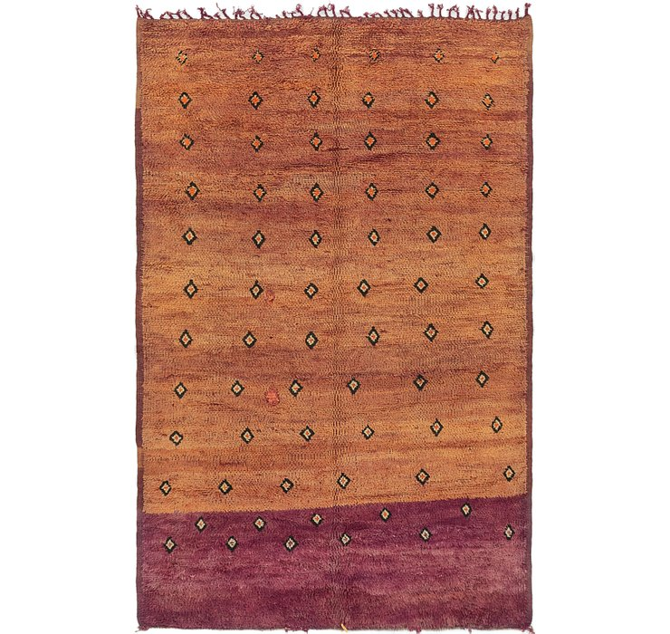 HandKnotted 6' x 9' 2 Moroccan Rug