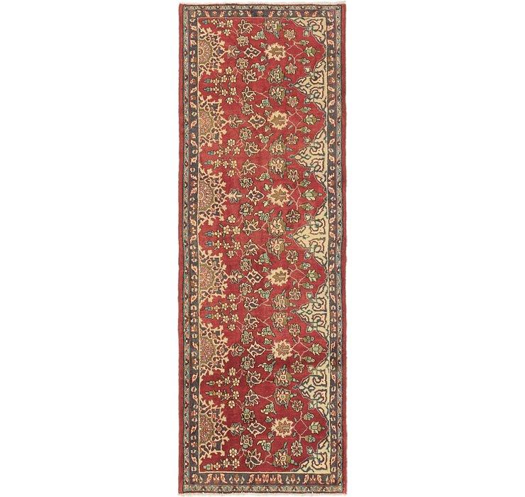 3' 6 x 10' Tabriz Persian Runner Rug