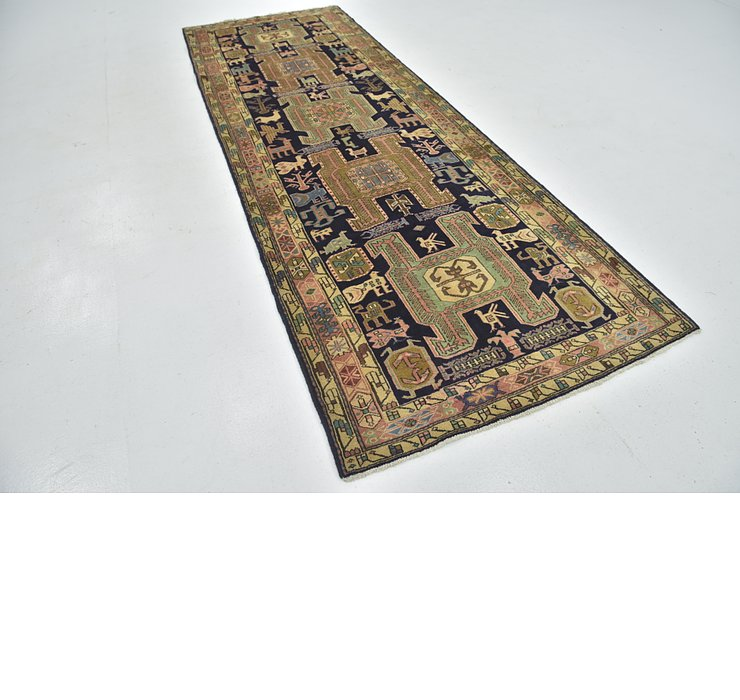 4' x 11' 7 Ardabil Persian Runner ...