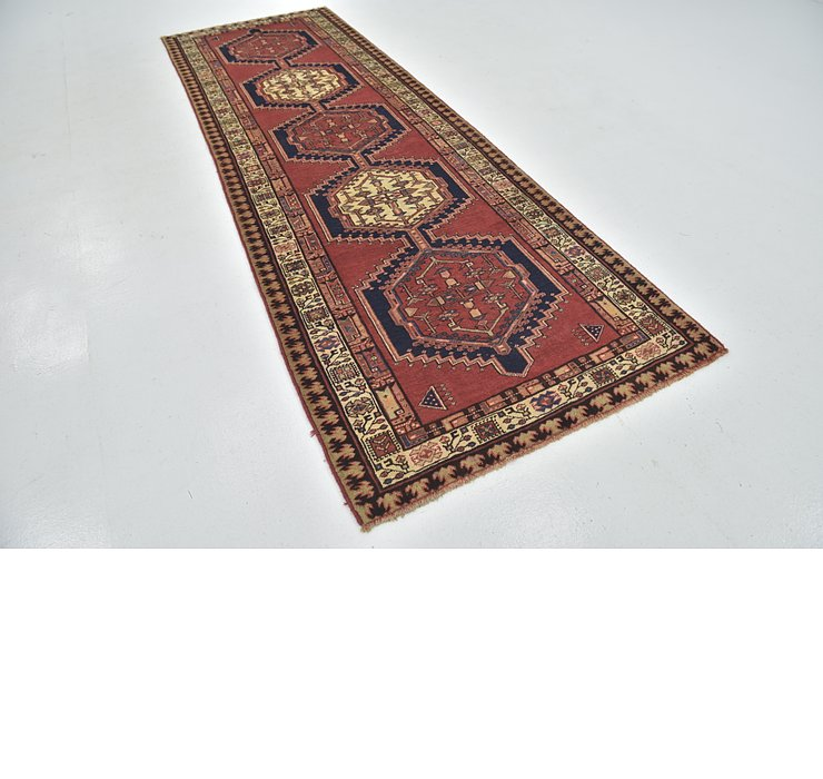 3' 9 x 11' 3 Ardabil Persian Runner ...