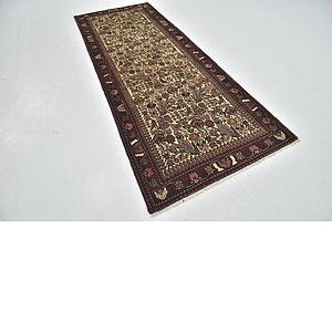 3' 7 x 9' 4 Roodbar Persian Runner ...