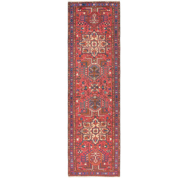 HandKnotted 3' 7 x 12' 7 Gharajeh Persian Runner...