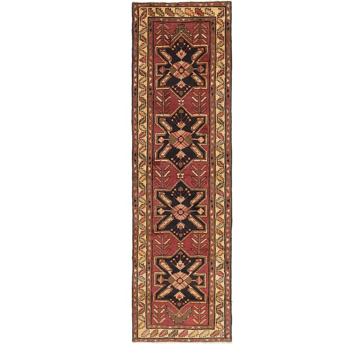 115cm x 385cm Shiraz Persian Runner Rug