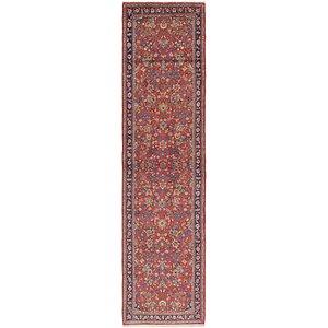 HandKnotted 3' x 13' 3 Kashan Persian Runner Rug