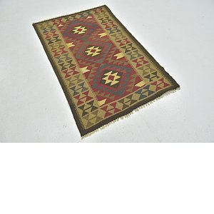 Unique Loom 3' 4 x 5' Kilim Maymana Rug