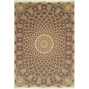 11' 3 x 16' 3 Tabriz Persian Rug