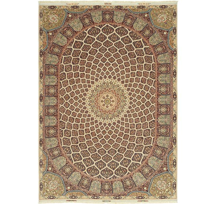 343cm x 495cm Tabriz Persian Rug