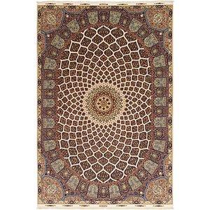 11' 3 x 16' 6 Tabriz Persian Rug