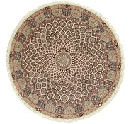 Link to 12' 10 x 12' 10 Tabriz Persian Round Rug