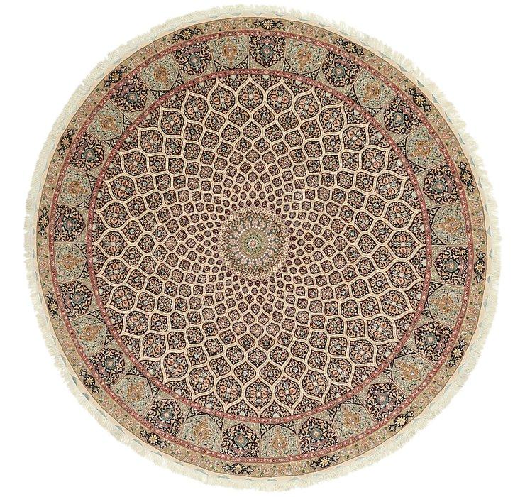 12' 10 x 12' 10 Tabriz Persian Round Rug