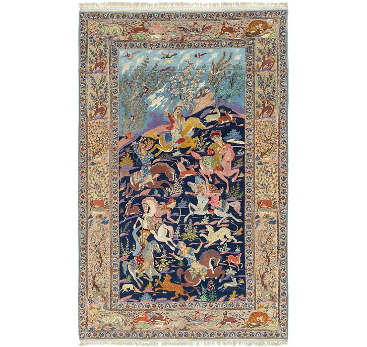 7' 7 x 11' 8 Isfahan Persian Rug