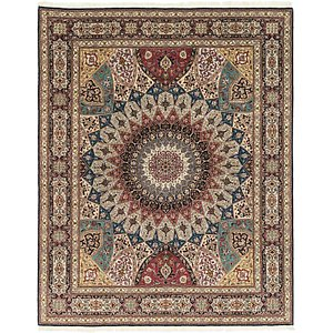 HandKnotted 6' 8 x 8' 5 Tabriz Persian Square Rug