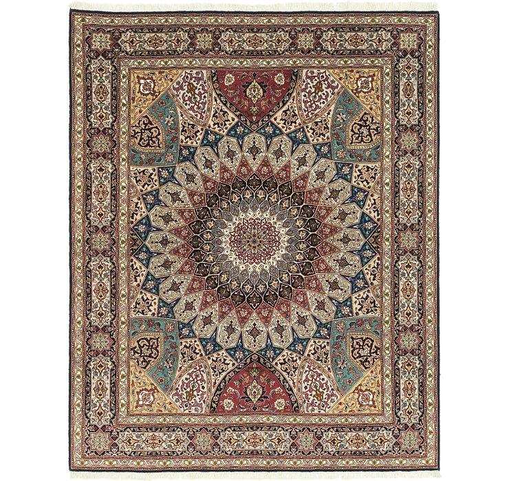 6' 8 x 8' 5 Tabriz Persian Square Rug