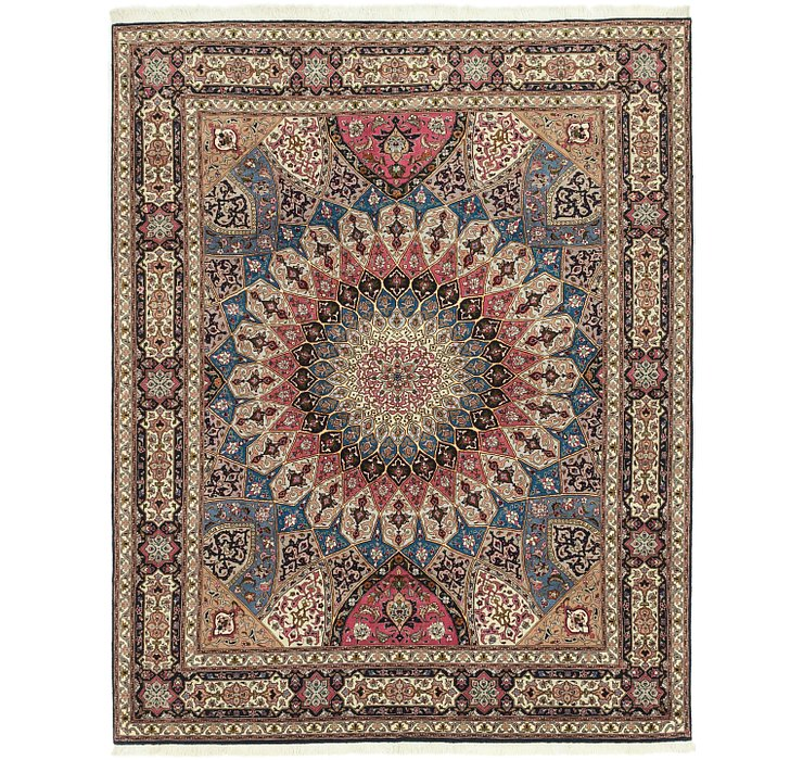 6' 8 x 8' 3 Tabriz Persian Square Rug