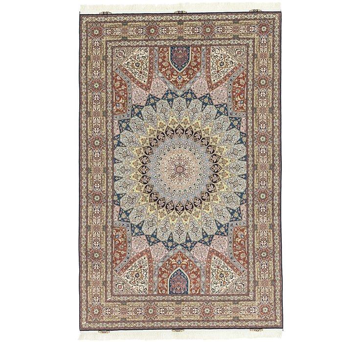 6' 5 x 10' 1 Tabriz Persian Rug