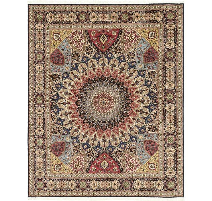 6' 8 x 8' 4 Tabriz Persian Square Rug