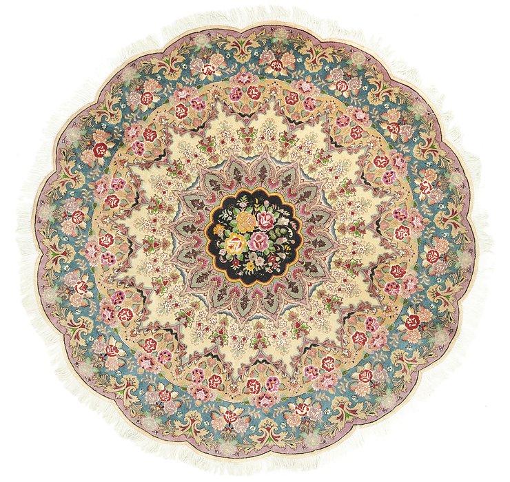 198cm x 198cm Tabriz Persian Round Rug