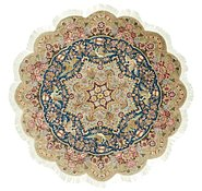 Link to 6' 6 x 6' 6 Tabriz Persian Round Rug