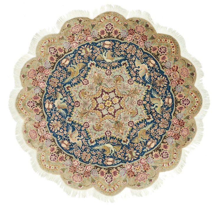 HandKnotted 6' 6 x 6' 6 Tabriz Persian Round Rug