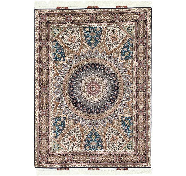 4' 10 x 6' 8 Tabriz Persian Rug