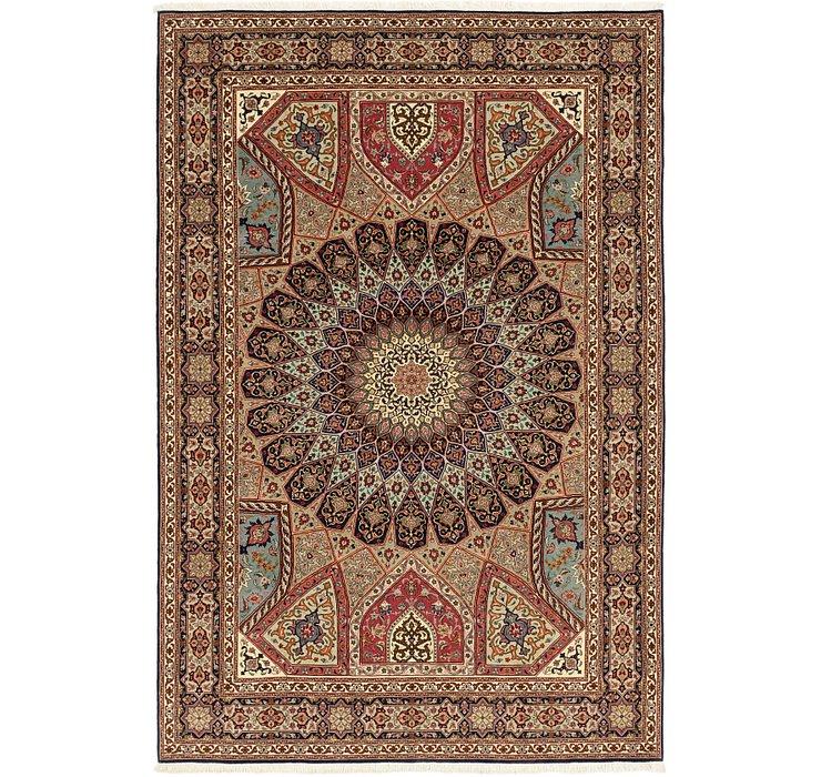 6' 8 x 10' 1 Tabriz Persian Rug