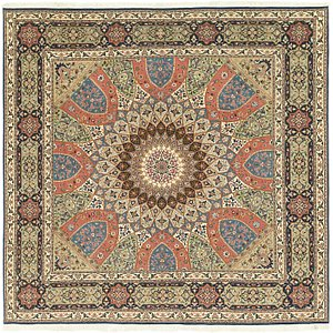 Link to 8' 3 x 8' 5 Tabriz Persian Square Rug item page