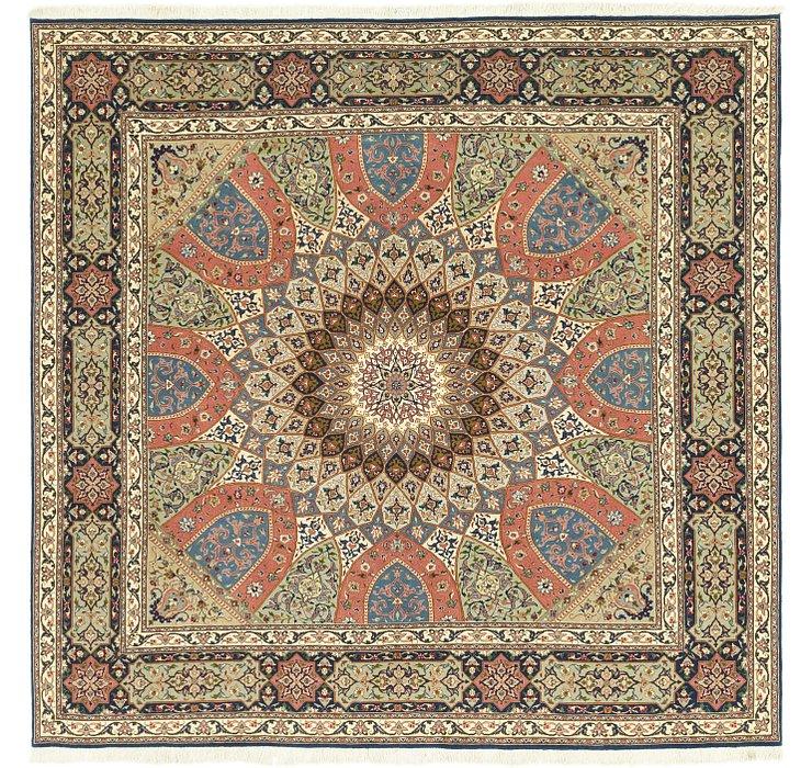 8' 3 x 8' 5 Tabriz Persian Square Rug
