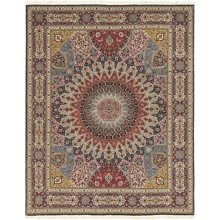 6' 8 x 8' 6 Tabriz Persian Rug