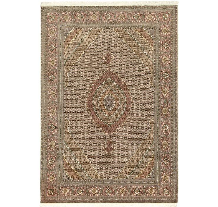 8' 1 x 11' 6 Tabriz Persian Rug