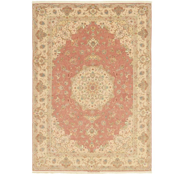 8' 1 x 11' 9 Tabriz Persian Rug