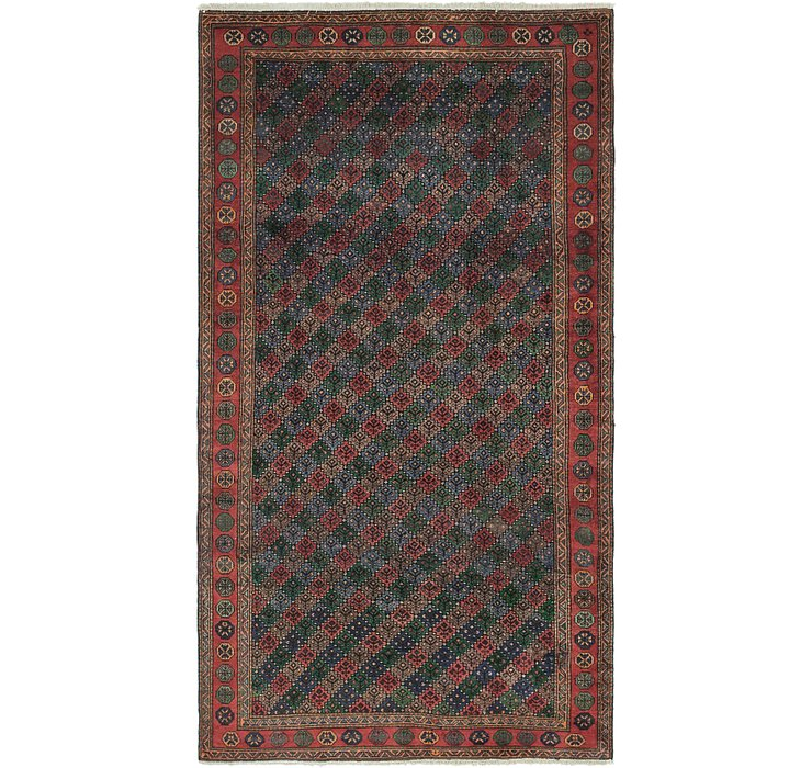 5' 4 x 10' Shiraz Persian Rug