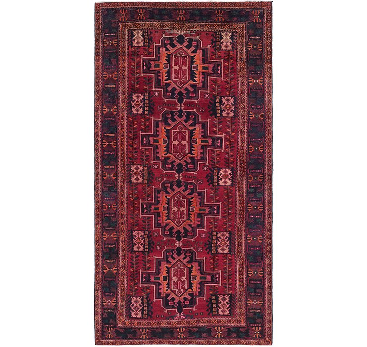 5' 2 x 10' 3 Shiraz Persian Runner Rug
