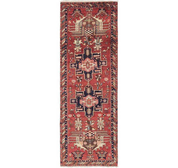 3' 3 x 9' 10 Karaja Persian Runner Rug