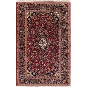 6' 9 x 10' 7 Kashan Persian Rug