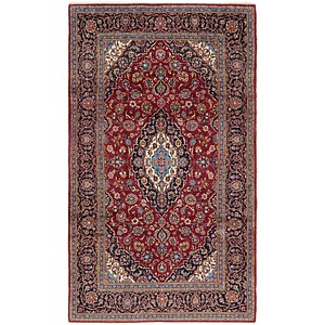 Link to 198cm x 350cm Kashan Persian Rug page