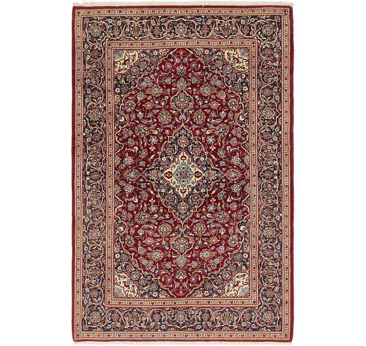 6' 8 x 10' 6 Kashan Persian Rug