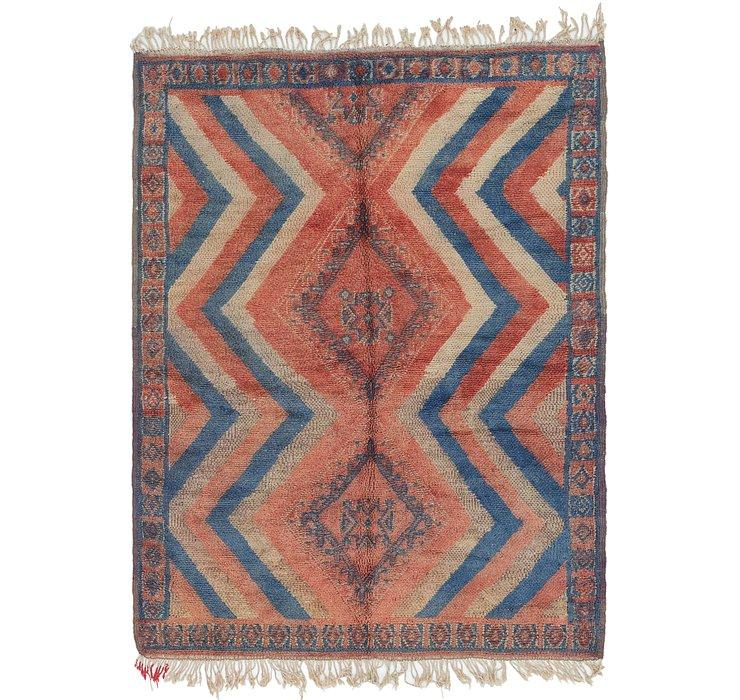 4' 10 x 6' 9 Moroccan Rug
