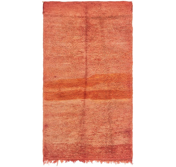 HandKnotted 4' x 7' 4 Moroccan Runner Rug