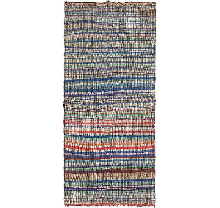 HandKnotted 4' x 8' 9 Moroccan Runner Rug