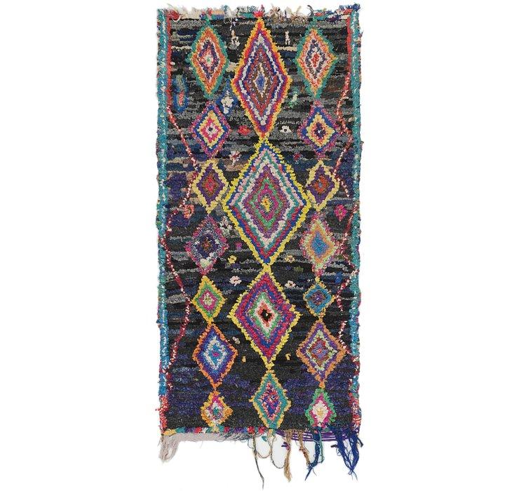 3' 5 x 7' 2 Moroccan Runner Rug
