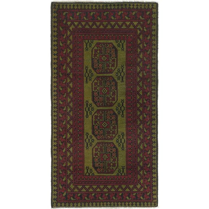 3' 3 x 6' 3 Afghan Akhche Runner Rug