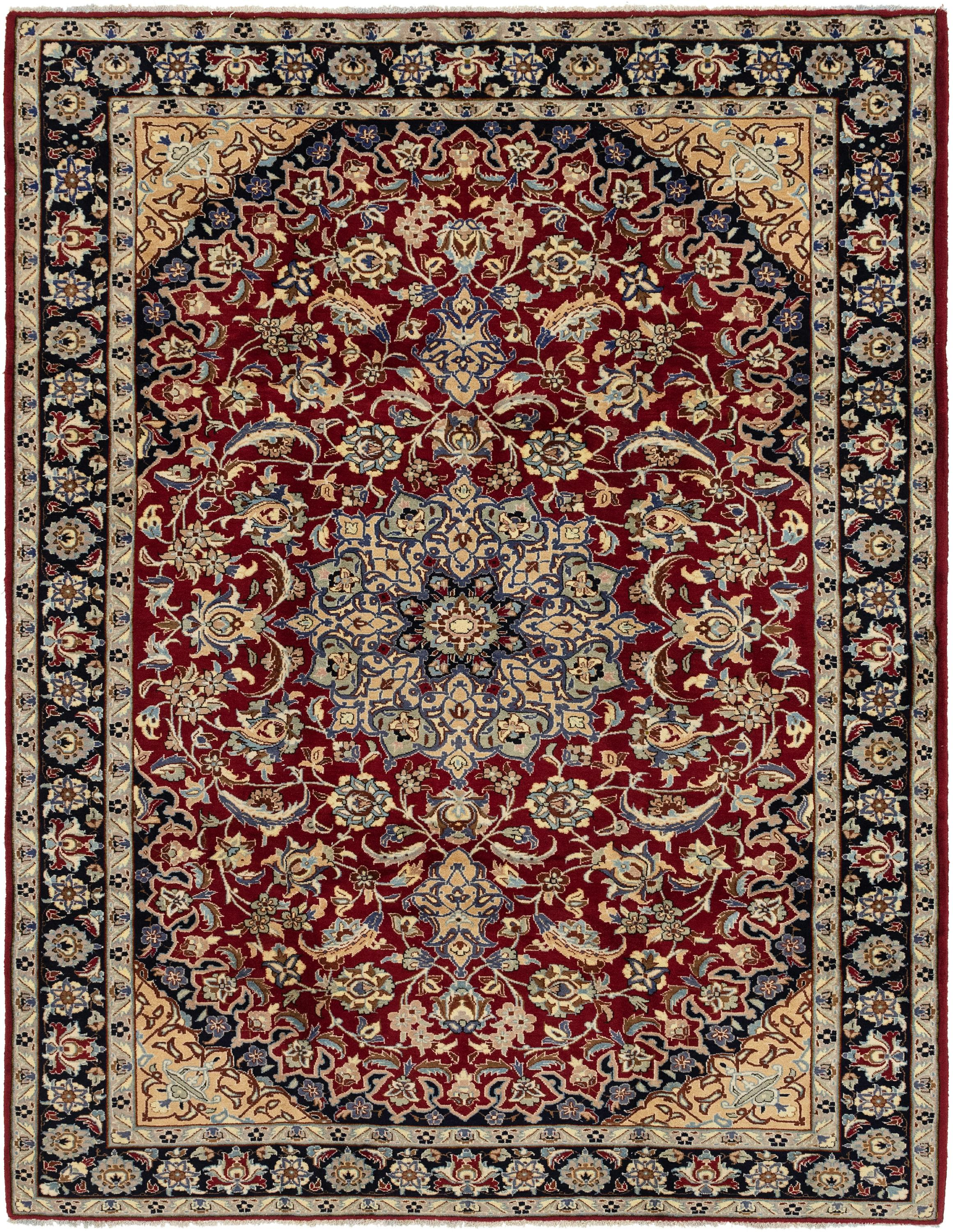 Red 250cm x 330cm Isfahan Persian Rug