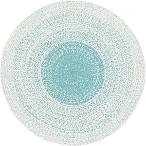 Unique Loom 3' 10 x 3' 10 Braided Chindi Round Rug