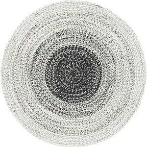 Unique Loom 3' 10 x 3' 10 Braided Chindi Round Rug