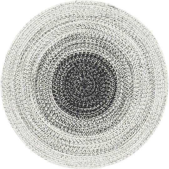 Black 3 10 X 3 10 Braided Chindi Round Rug Area Rugs Esalerugs