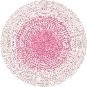 Unique Loom 4' x 4' Braided Chindi Round Rug