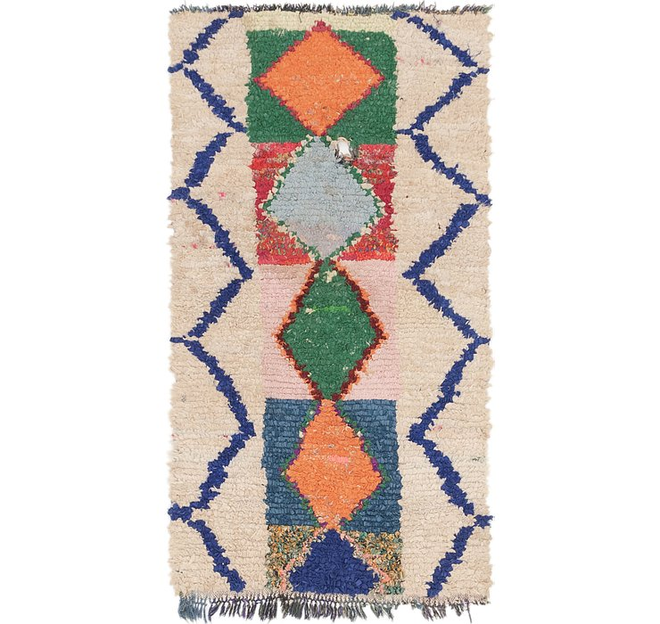 3' 2 x 6' 3 Moroccan Runner Rug