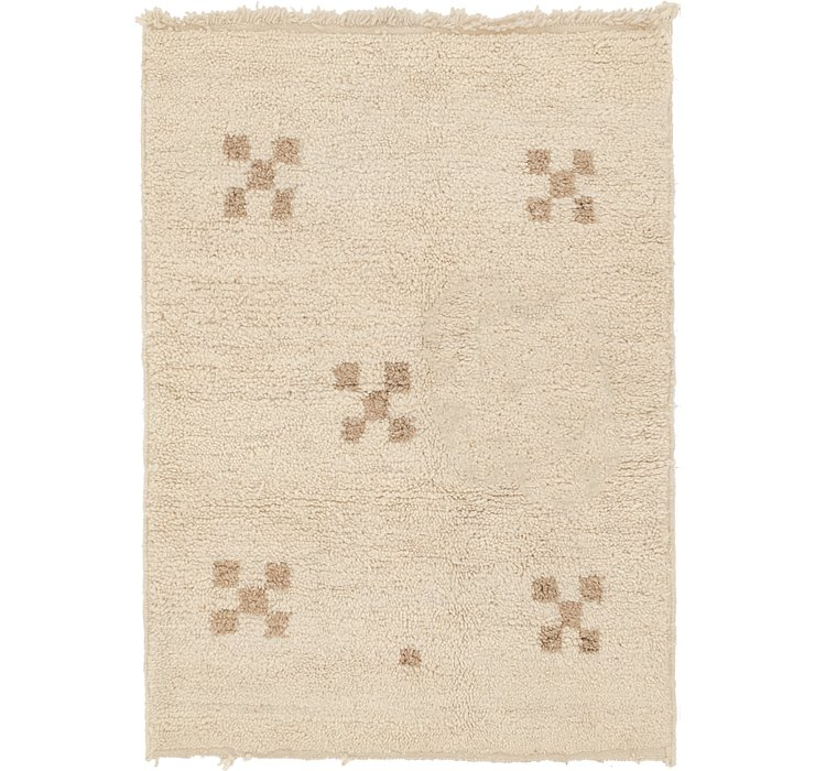 HandKnotted 3' 4 x 4' 6 Moroccan Rug